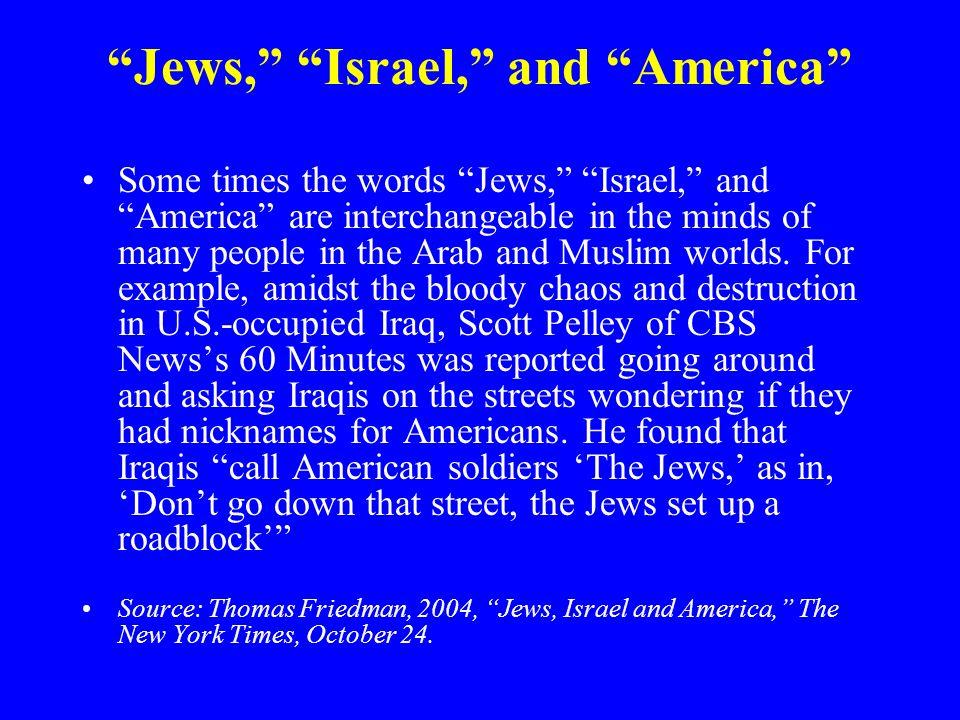 Jews, Israel, and America