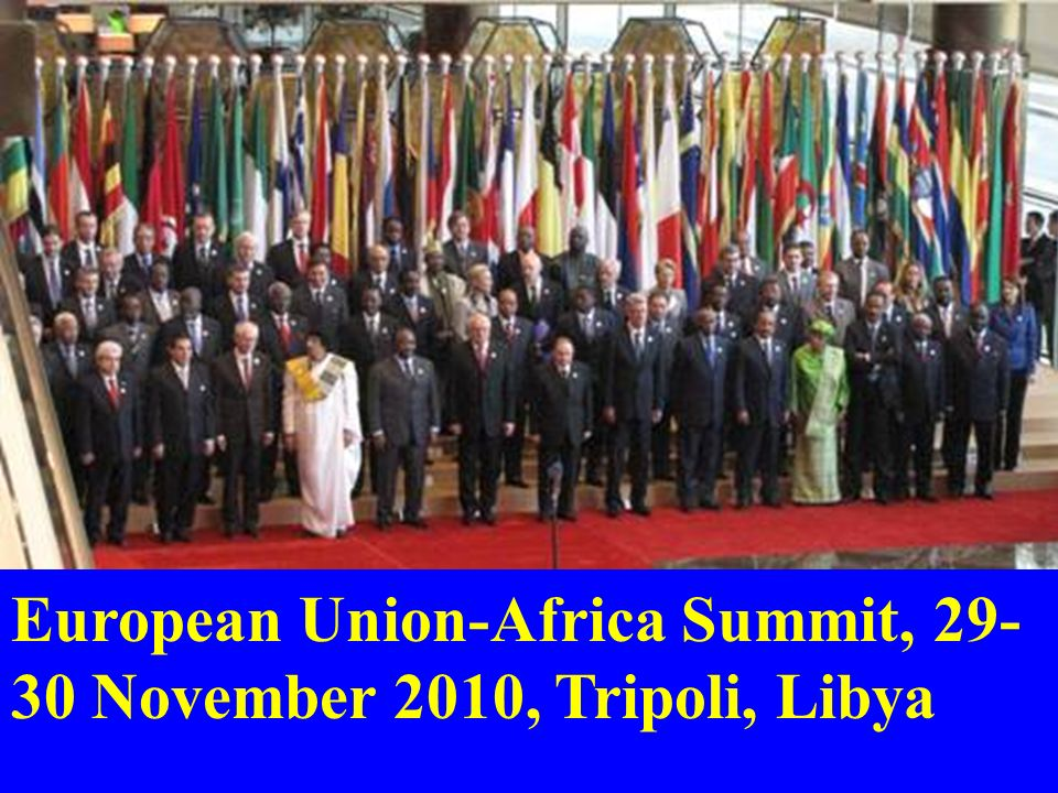 European Union-Africa Summit, 29-30 November 2010, Tripoli, Libya