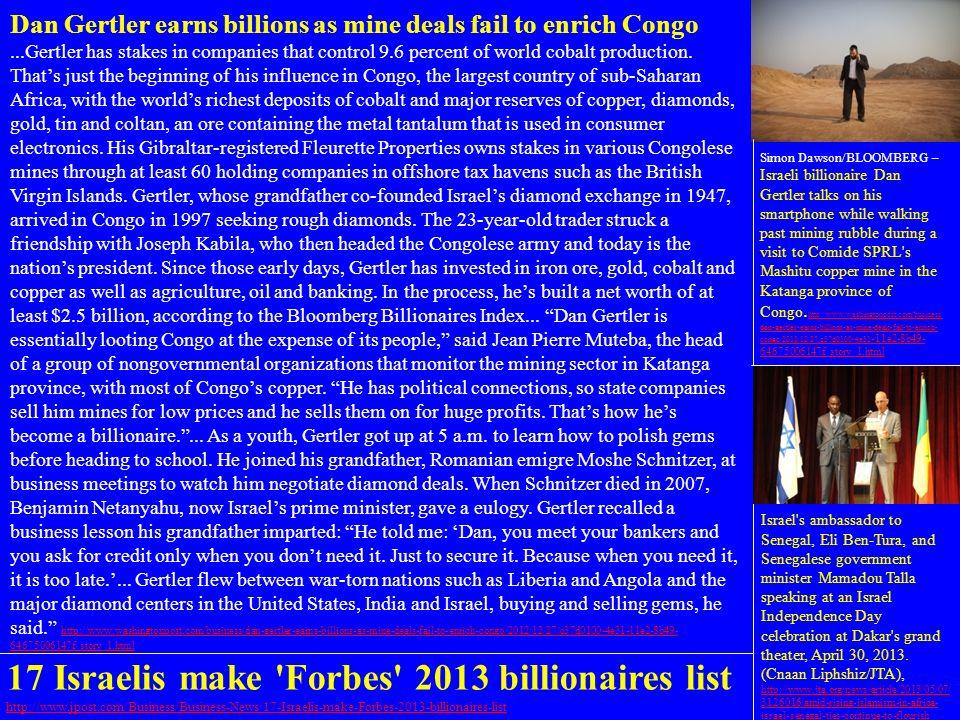 17 Israelis make Forbes 2013 billionaires list