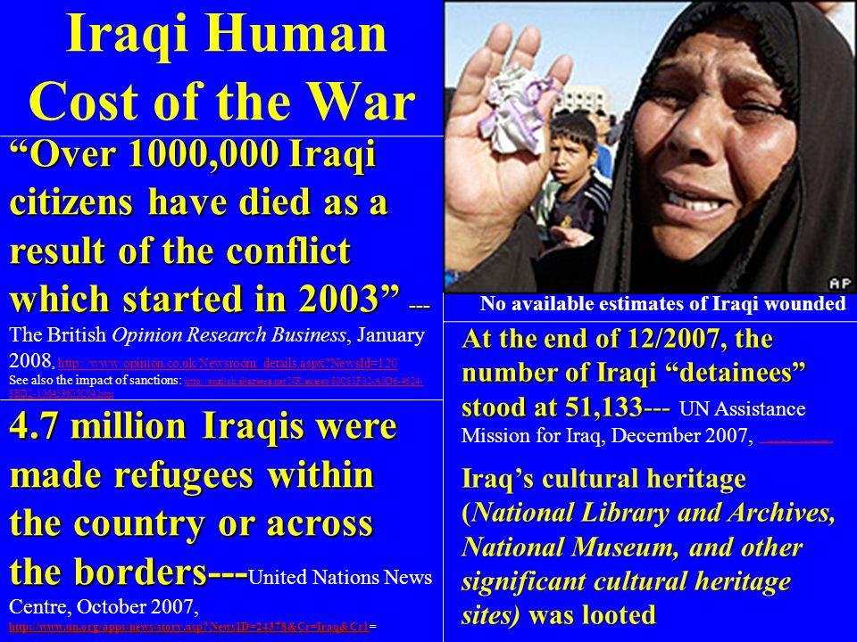 Iraqi Human Cost of the War
