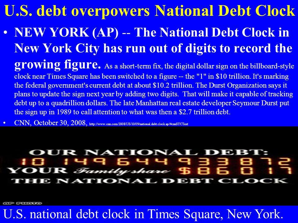 U.S. debt overpowers National Debt Clock