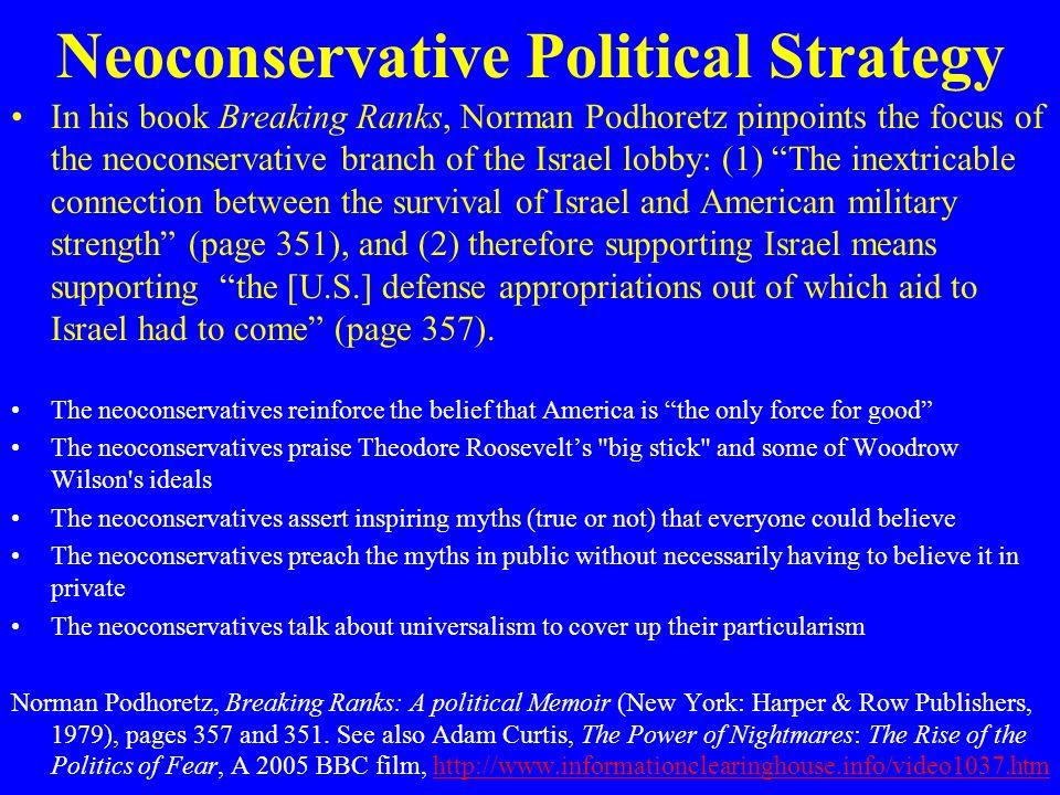 Neoconservative Political Strategy