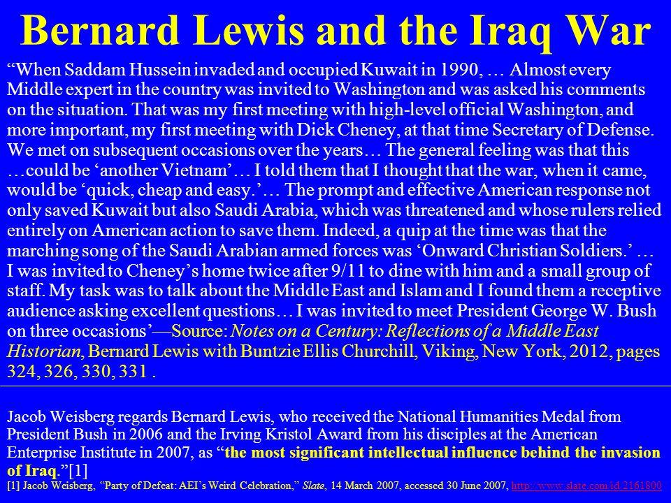 Bernard Lewis and the Iraq War