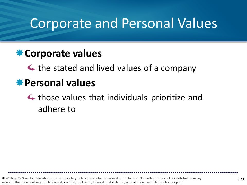 organizational values vs personal values The difference between culture and values  in a larger organization with a wider range of functional specialists managing their own pieces of the organization.