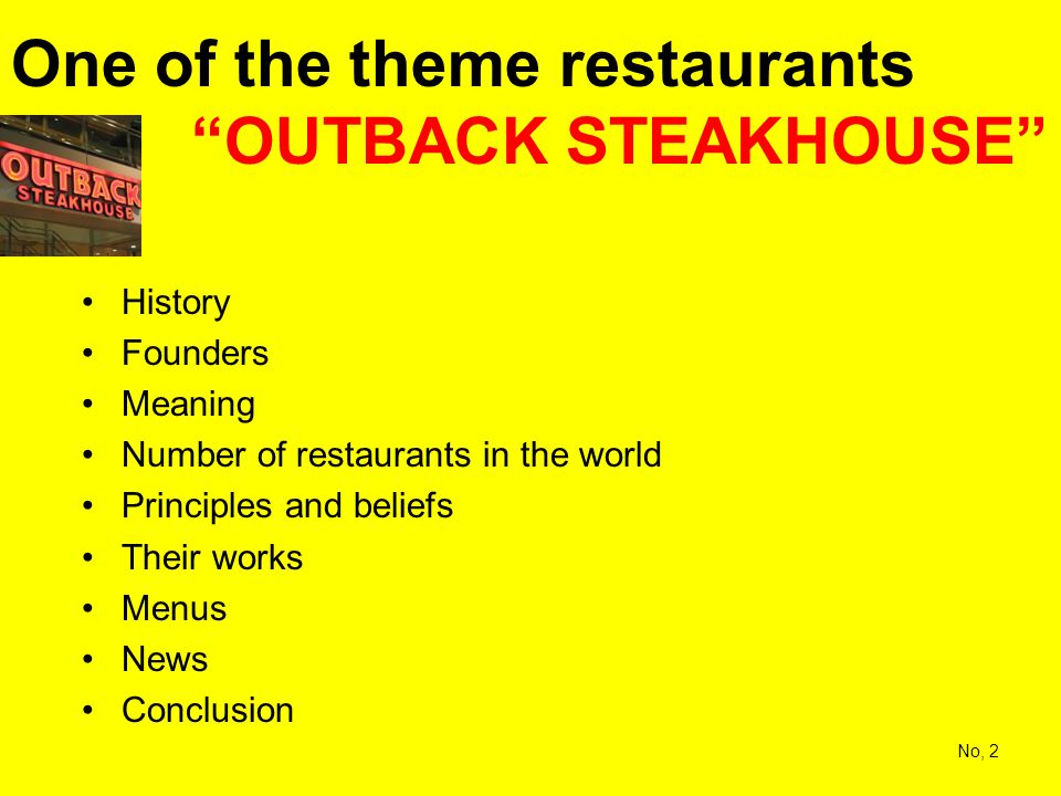 outback steakhouse principles and beliefs