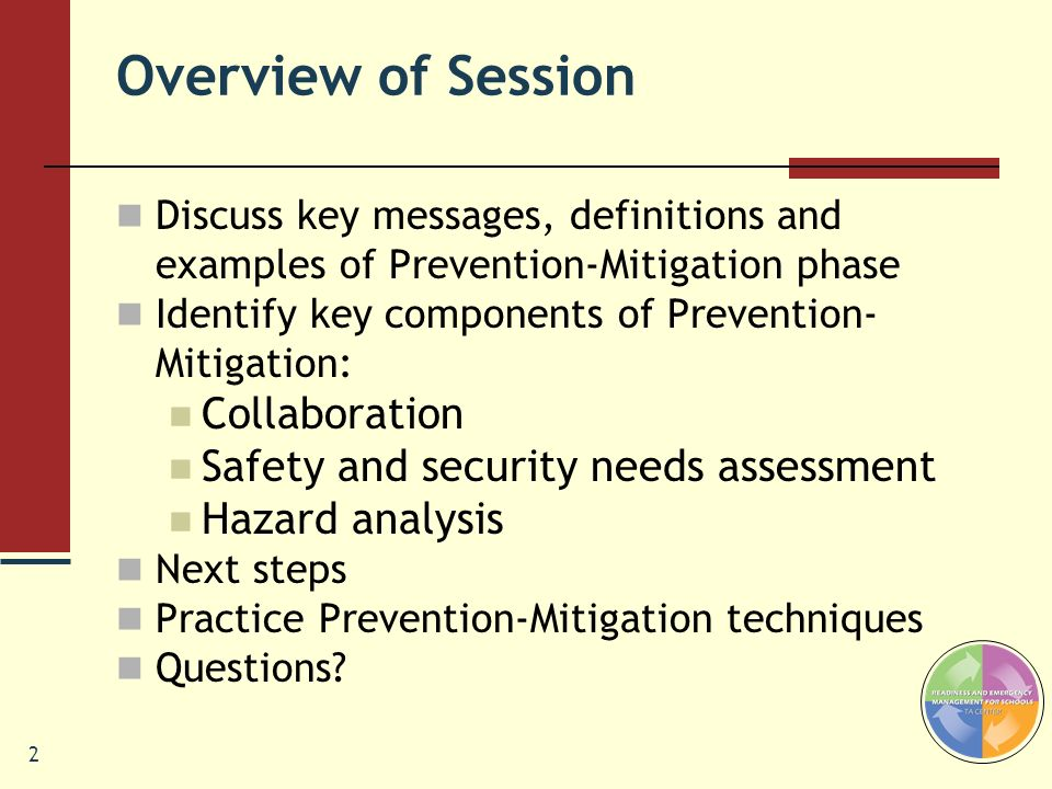 Overview of Session Collaboration Safety and security needs assessment
