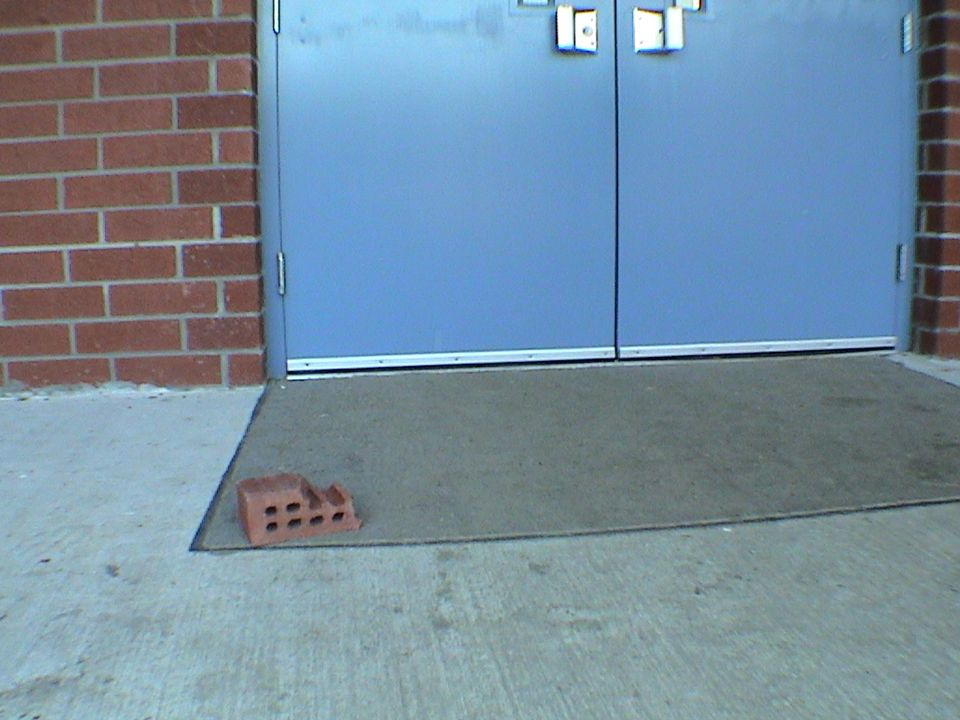 Brick denotes that door is frequently propped open…