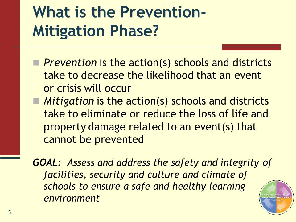 What is the Prevention- Mitigation Phase