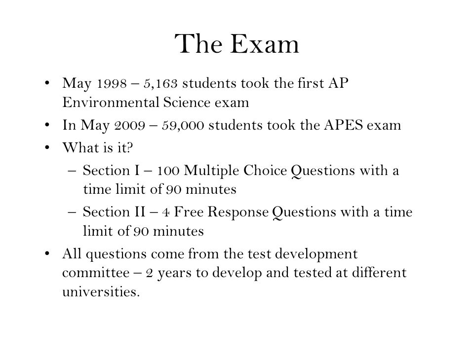 ap environmental science essays 2003 The following comments on the 2003 free-response questions for ap® environmental science were written by the chief reader, thomas mowbray of salem college in winston-salem, north carolina they give an overview of each free-response question and of how students performed on the question,.