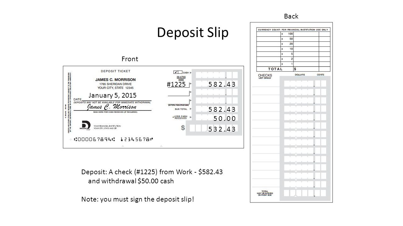 collection of deposit slip worksheet bluegreenish. Black Bedroom Furniture Sets. Home Design Ideas