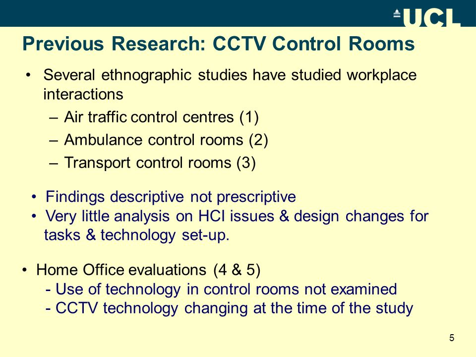 Previous Research: CCTV Control Rooms Part 84