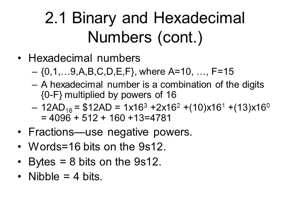 what is the advantage of using hexadecimal numbers The other advantage of using hex is that particular data patterns are easier to spot in hex for example you often get runs of ff, 0f or other simple hex values machine code instructions and even ascii codes are also easier to spot in hex and if a item of data turns out to be an address what could be better than to have it already in hex.