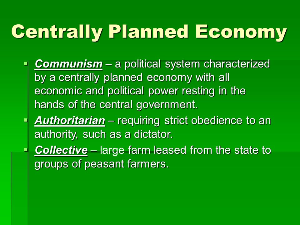 centrally planned economy essay I recommend starting near the back with the essay how  then a market economy consists of these planned  a centrally planned economy is a like a.