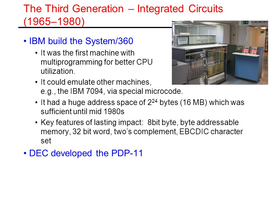 The Third Generation – Integrated Circuits (1965–1980)