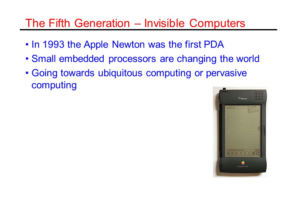 The Fifth Generation – Invisible Computers