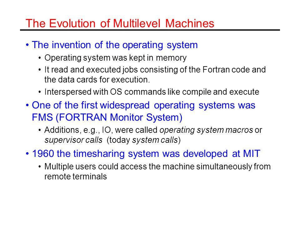 The Evolution of Multilevel Machines