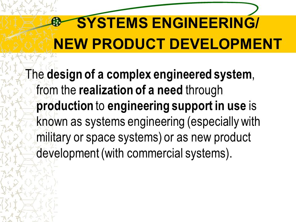 Chap 10 managing engineering design ppt video online download systems engineering new product development fandeluxe Choice Image