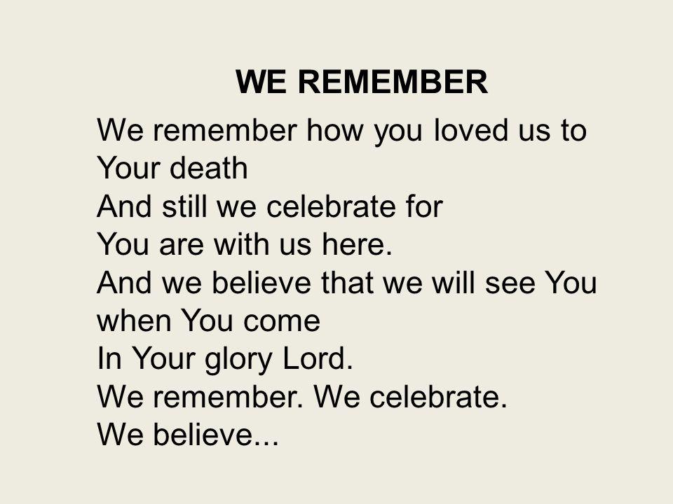 Marty Haugen - We Remember Lyrics | Musixmatch