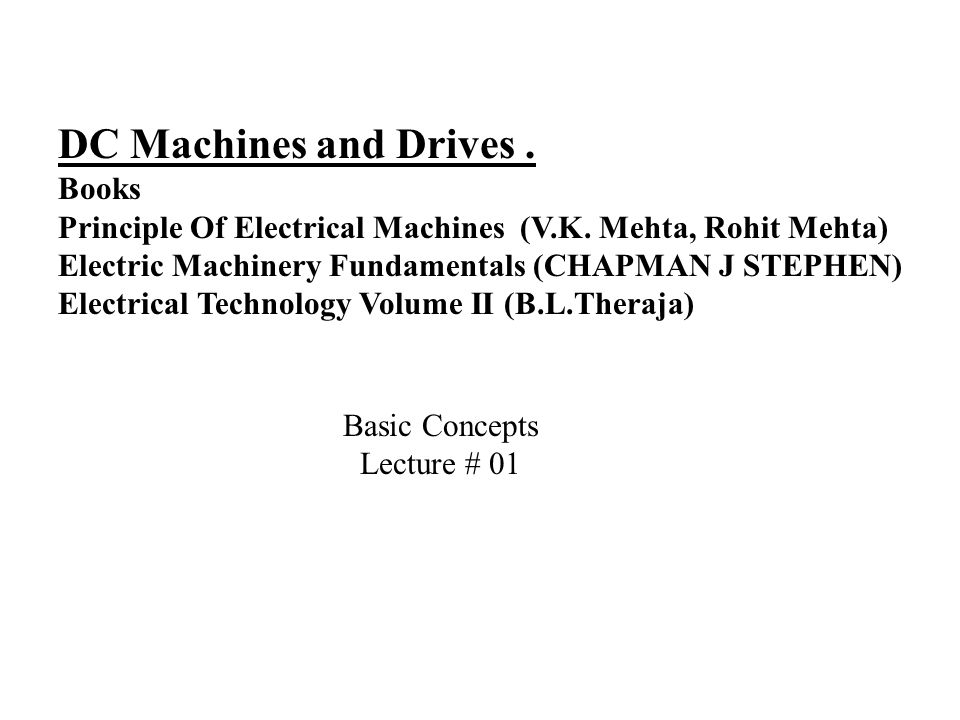 Electrical Machinery Pdf