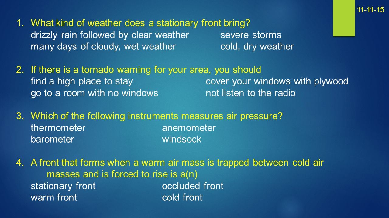 How does a warm front form? - ppt video online download