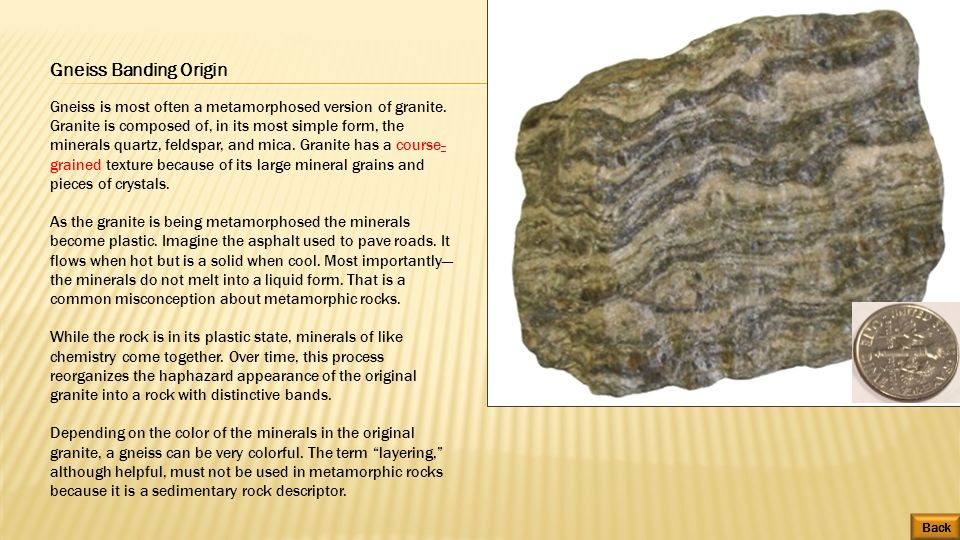 Metamorphic rocks can be difficult to identify due to the very ...