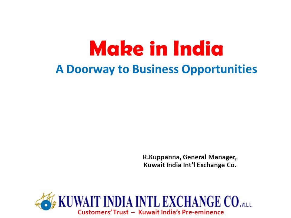 Make in India A Doorway to Business Opportunities