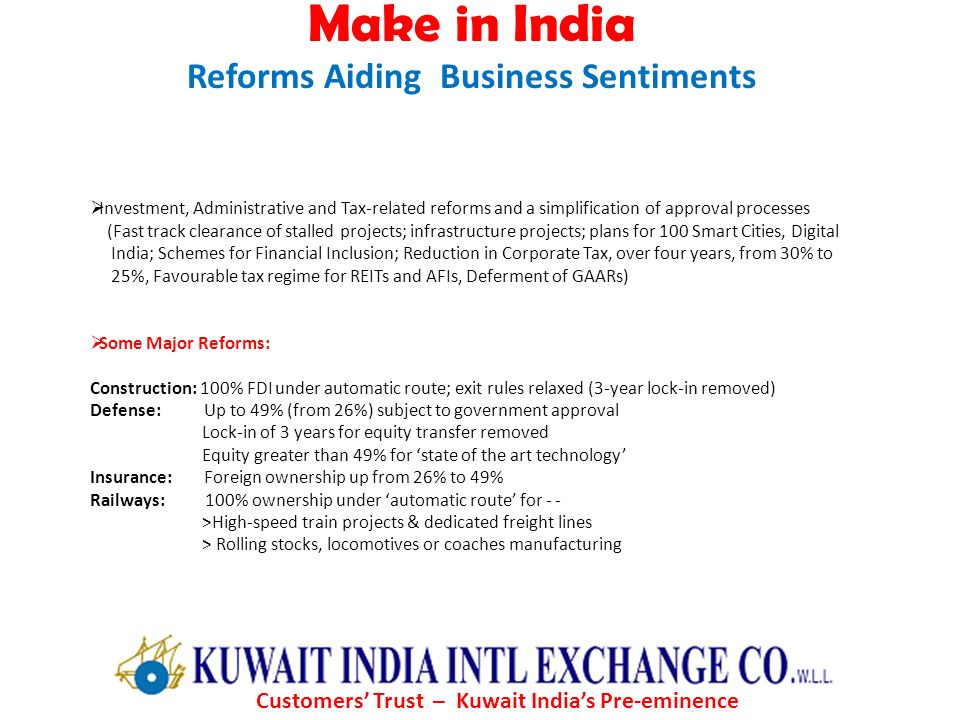 Make in India Reforms Aiding Business Sentiments