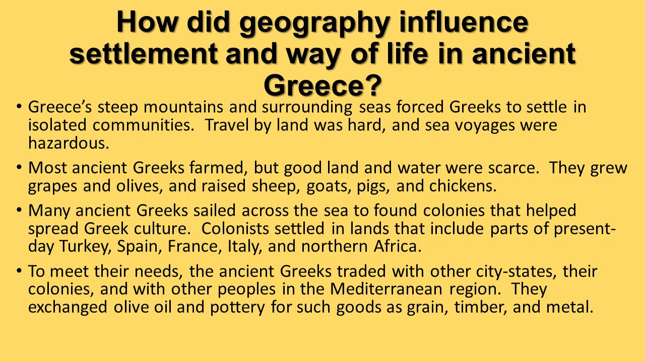 Chapter 25 Geography And The Settlement Of Greece Ppt