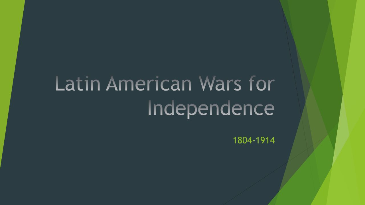 latin american wars of independence 1 latin america wars for independence in the century following columbus' discovery of the new world in 1492 spanish soldiers conquered most of.