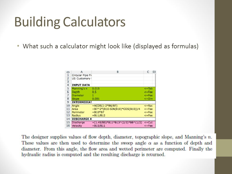 Ce 3372 water systems design ppt video online download for Build a house calculator