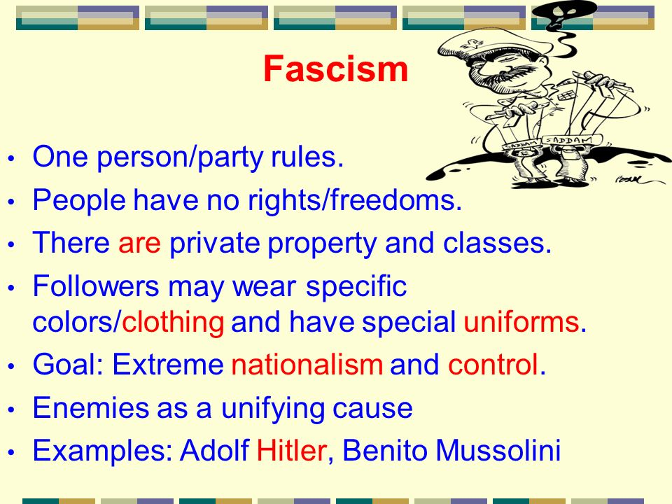 Fascism Examples Images Example Cover Letter For Resume