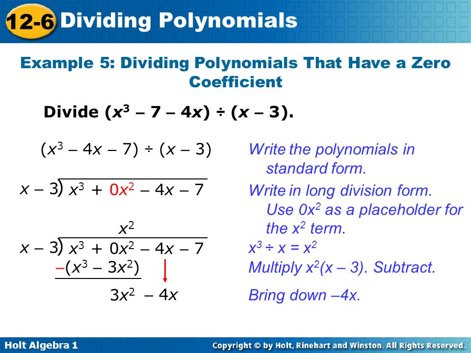 Dividing Polynomials Examples Intellego