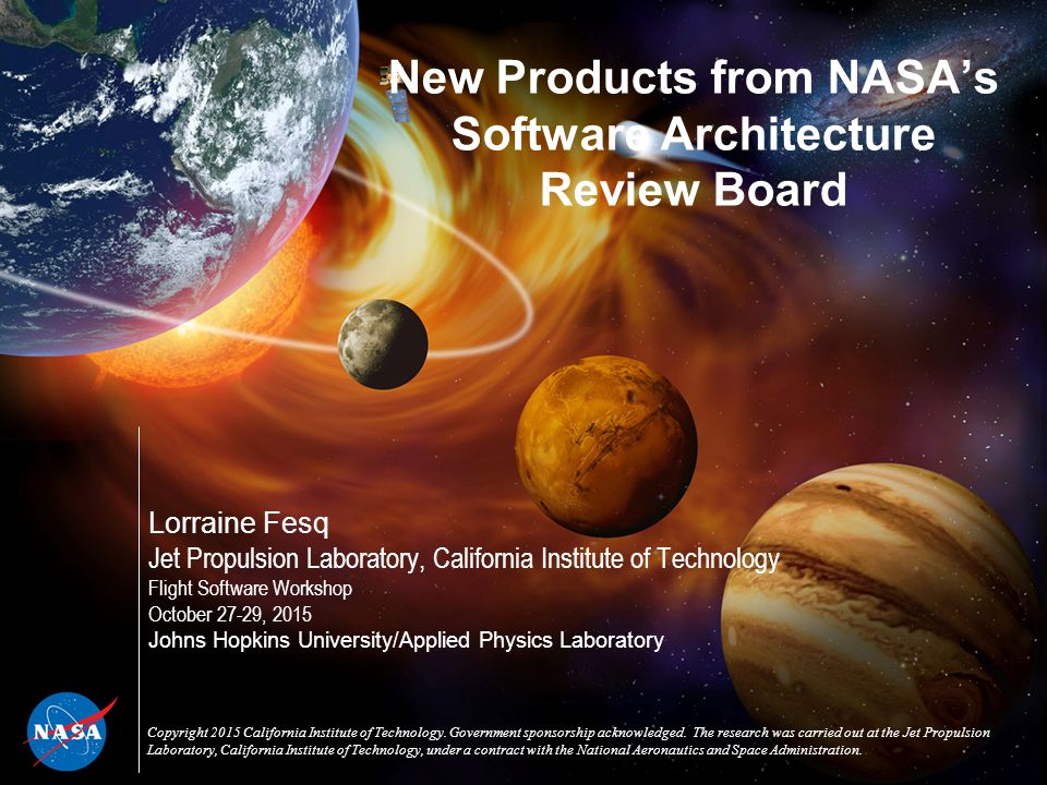 new products from nasa's software architecture review board - ppt, Presentation templates