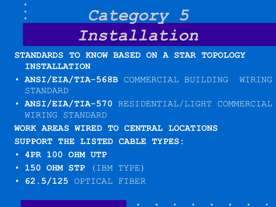 Category+5+Installation copper and fiber review ppt video online download tia-570-b wiring diagram at crackthecode.co