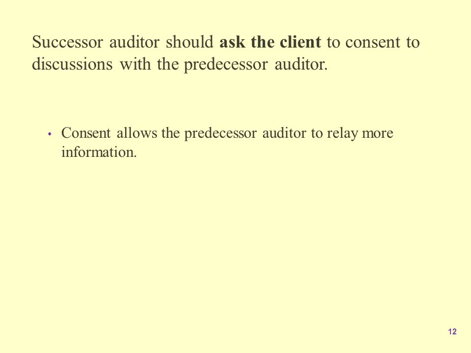 what factors should an auditor consider before accepting a company as an audit client This article gives an introduction to audit the client before accepting them the auditor should evaluate the affects client business risk.