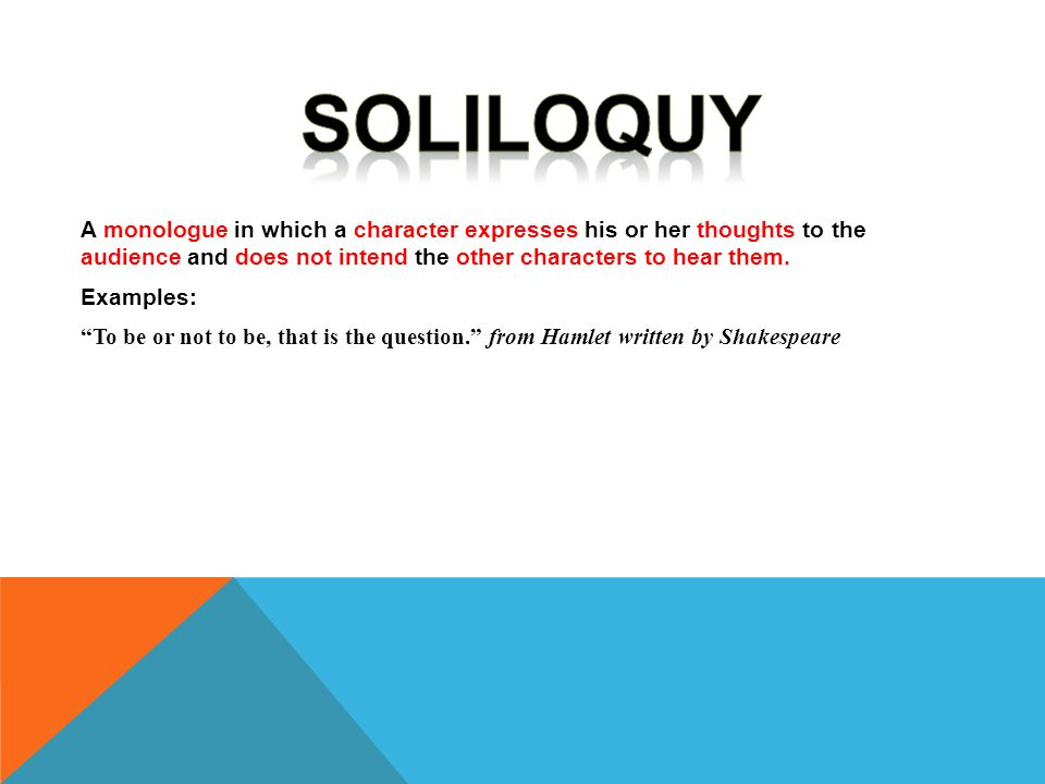 Soliloquy Definition