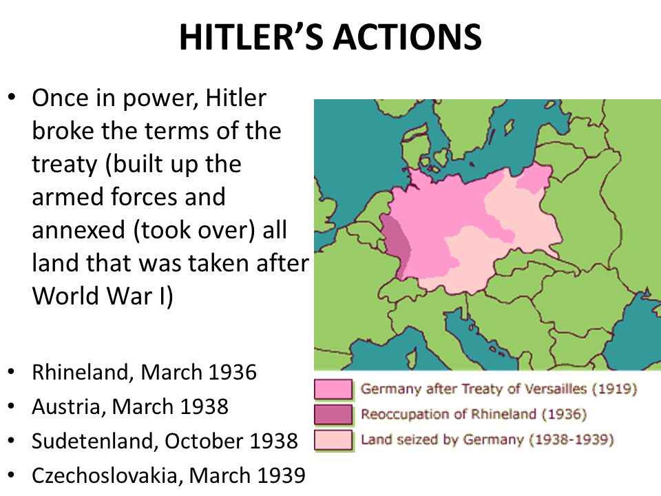 why hitler's actions the treaty of Treaty of versailles essay during world war one,  why hitler's actions, the treaty of versailles and the policy appeasement contributed to the outbreak of war in.