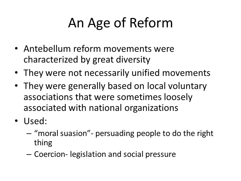 reform movements in 1825 1850 205 identify the major reform movements and evaluate their  (1850 1848  social revolutions demanding constitutional government break out  in 1825 he.