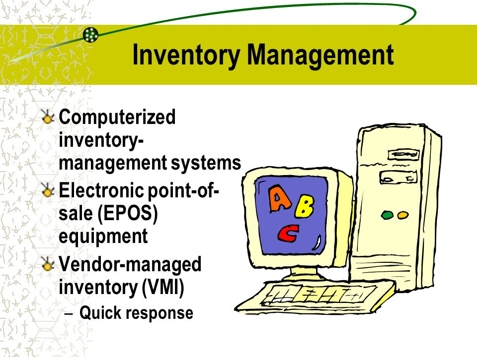 computerized sales and inventory system Inventory management software is a software system for tracking inventory levels,  orders, sales and deliveries it can also be used in the manufacturing industry.