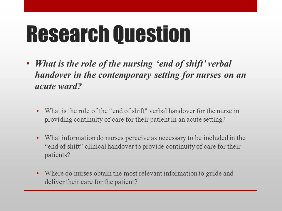 understanding the role of research on the field of nursing care Evidence-based research offers nurses a unique opportunity to expand their roles and transform patient care learn more about ebp with an.