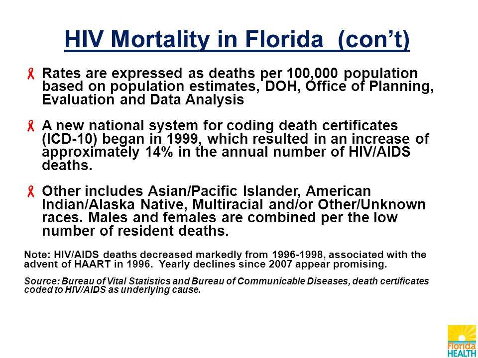 hiv mortality in florida ppt download. Black Bedroom Furniture Sets. Home Design Ideas