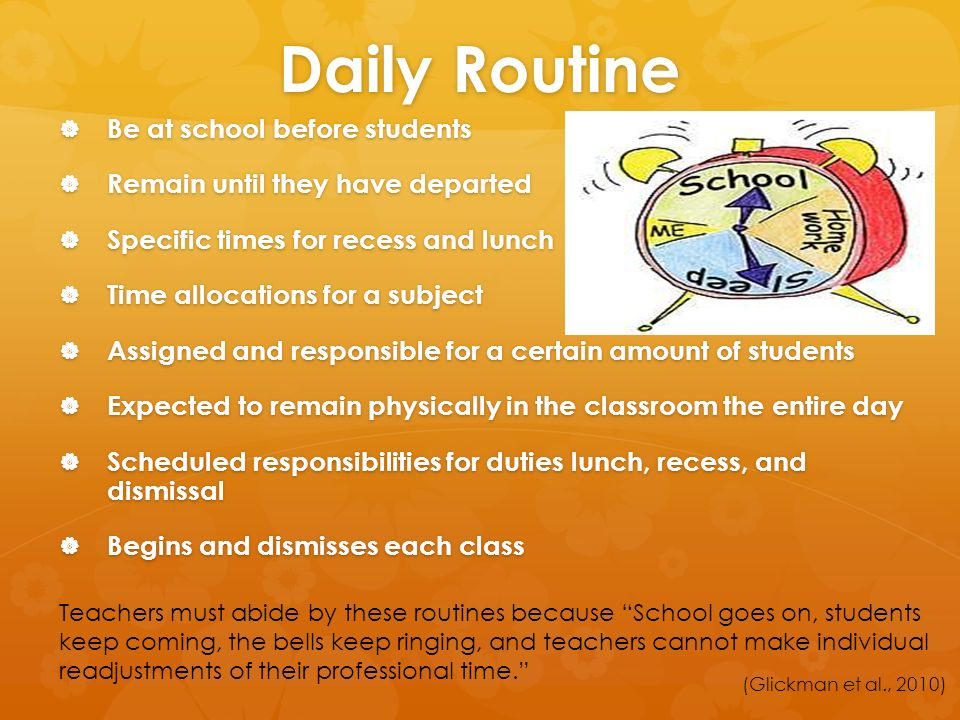 how to make a daily routine for students