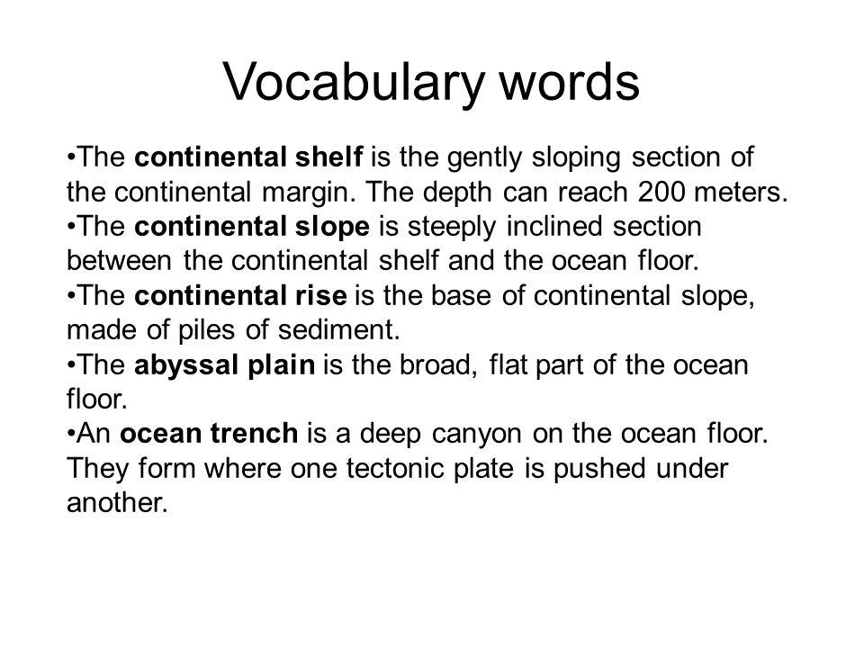 Deep ocean technology the ocean floor ppt video online for Another word for ocean floor