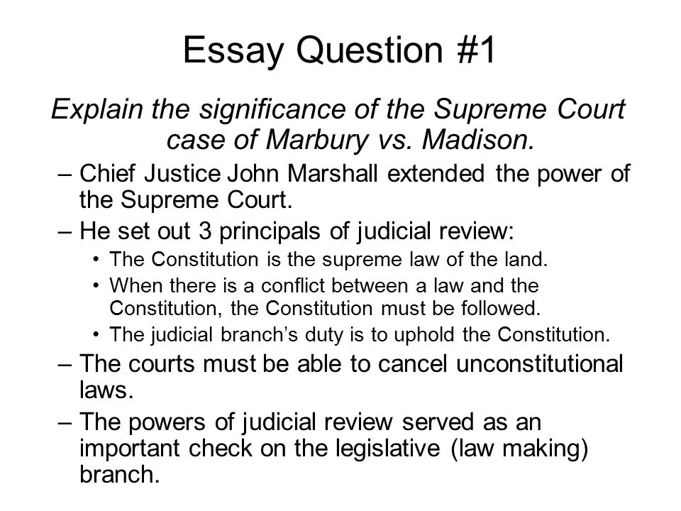 john marshall supreme court case essay John marshall's supreme court  in this supreme court case, chief justice john marshall decided that a  a report on architectural determinism anthropology essay.