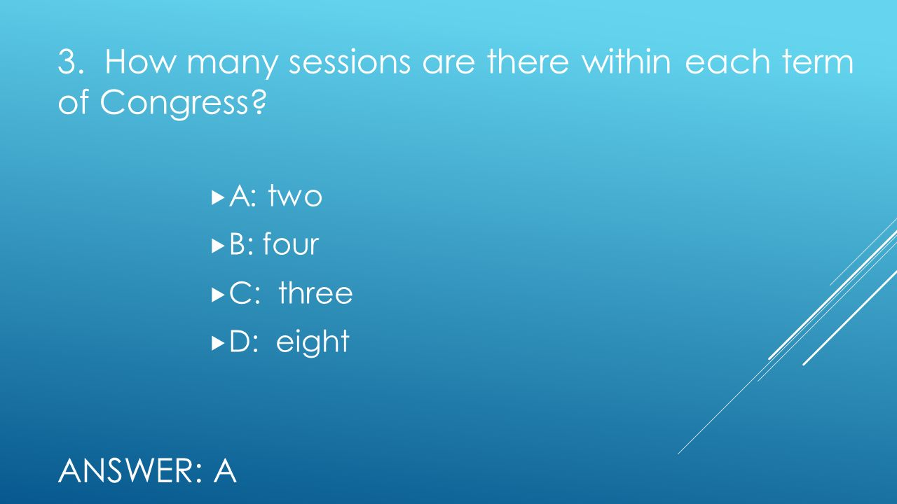 3. How many sessions are there within each term of Congress