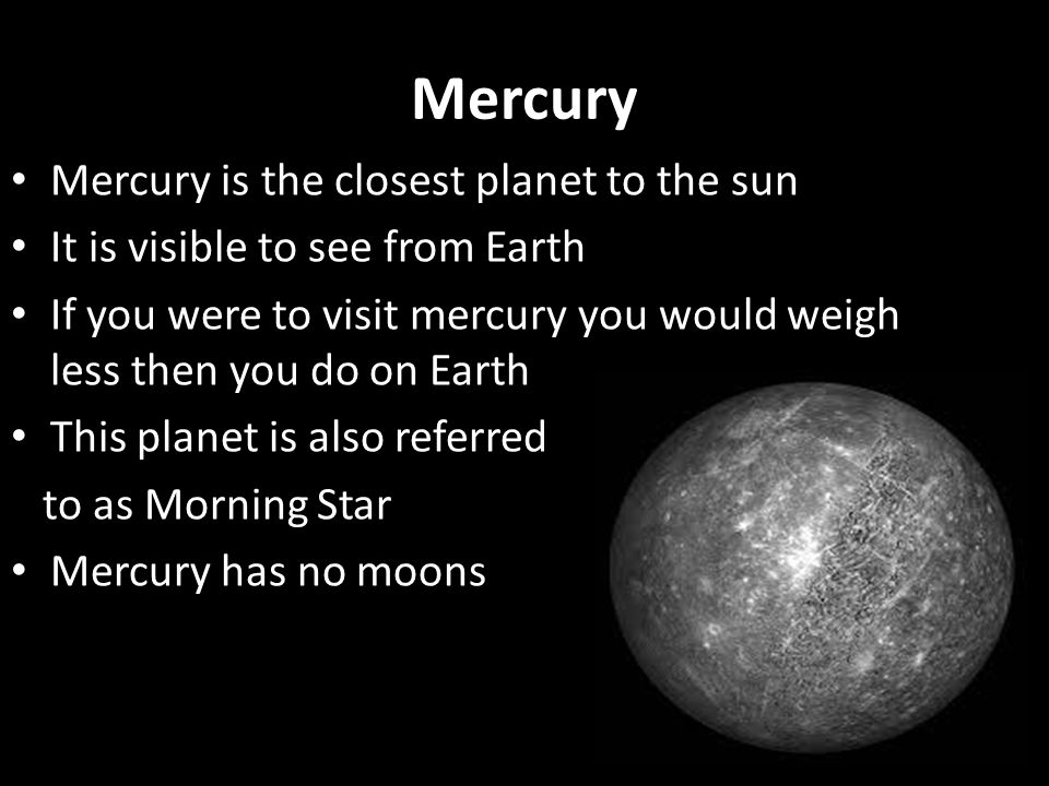 The Solar System In this lesson you will learn about each ...