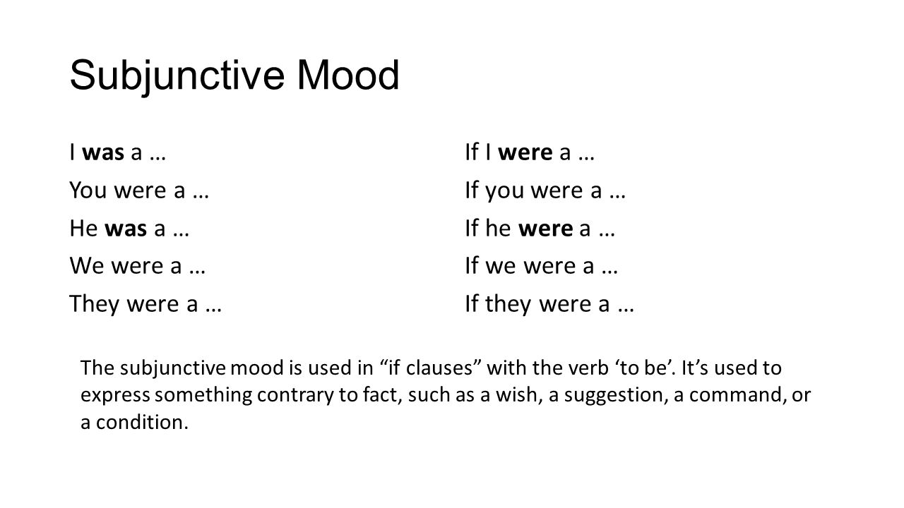 how to teach subjunctive mood