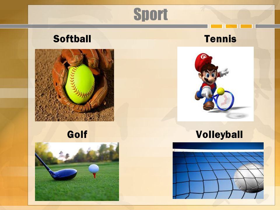 Sport Softball Tennis Golf Volleyball