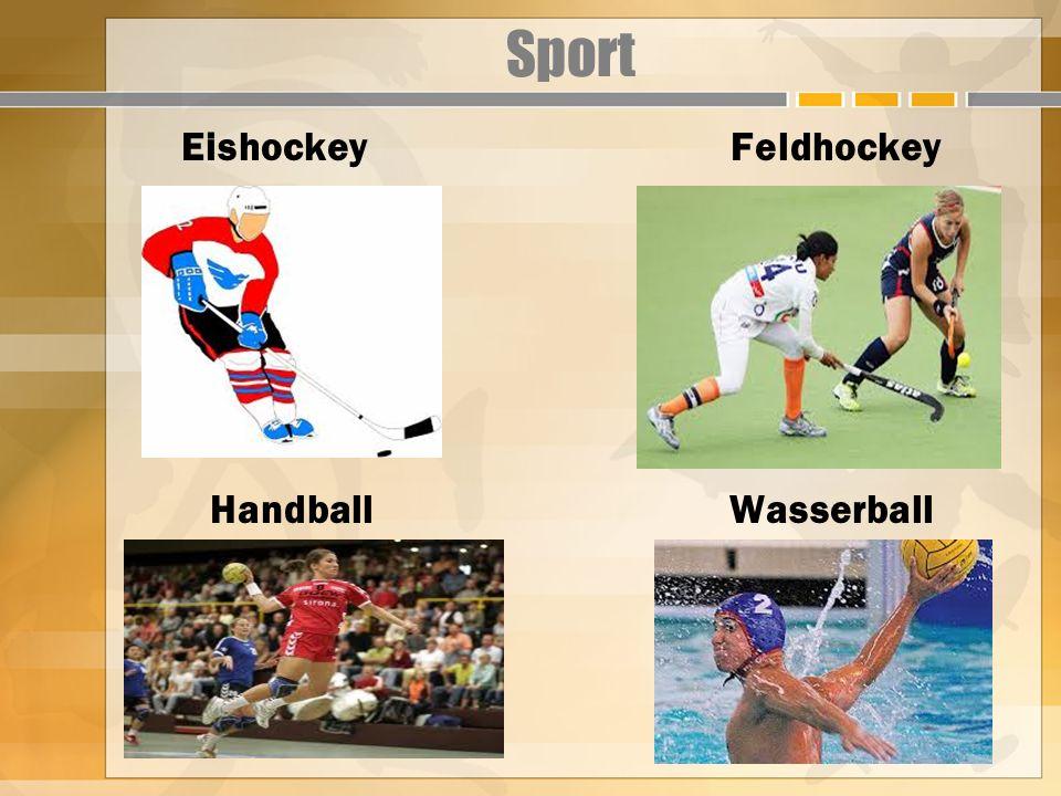 Sport Eishockey Feldhockey Handball Wasserball