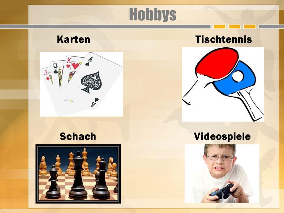 Hobbys Karten Tischtennis Schach Videospiele
